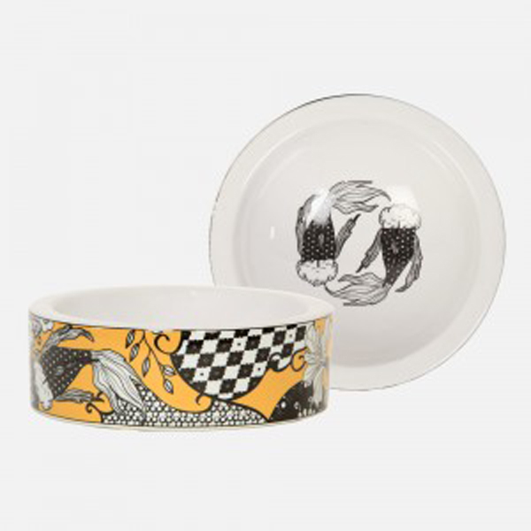 Koi Garden Cat Bowl