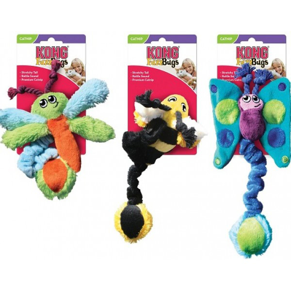 Kong Kitty Fuzz Bugs Cat Toy