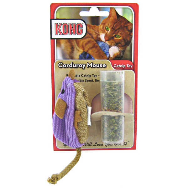 Kong Refillable Catnip Toy - Corduroy Mouse