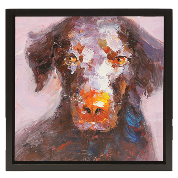 Chocolate Labrador Oil Painting