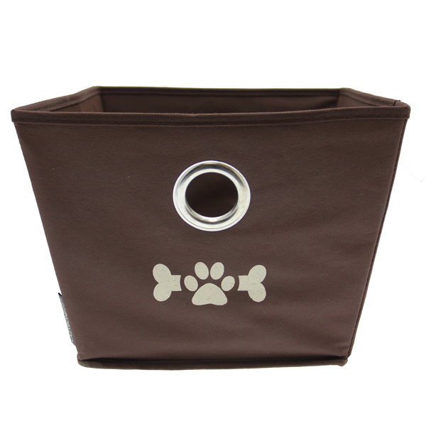 Lazybonezz Dog Toy Bin - Brown