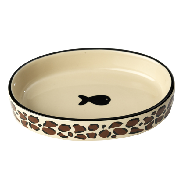 Leopard Buzz Cat Bowl