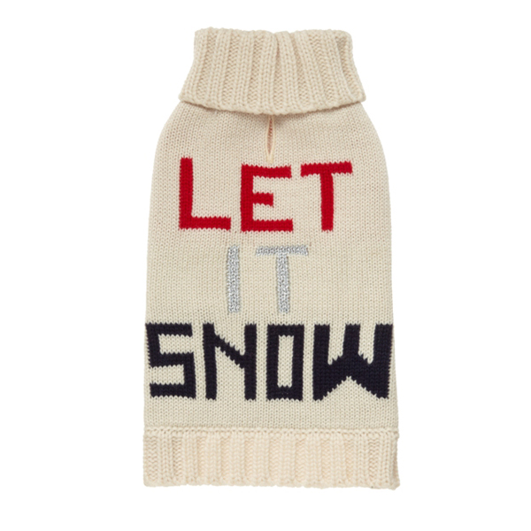 Let it Snow Dog Sweater by Fab Dog - Navy