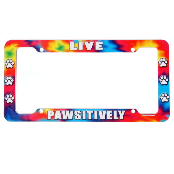 License Plate Frame - Live Pawsitively