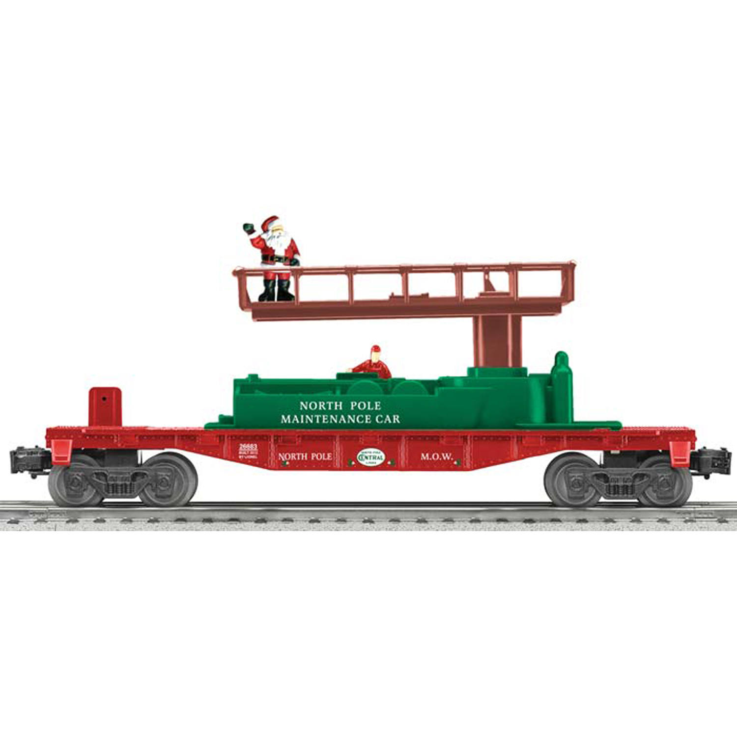 lionel trains accessories o gauge christmas track maintenance car at toystop