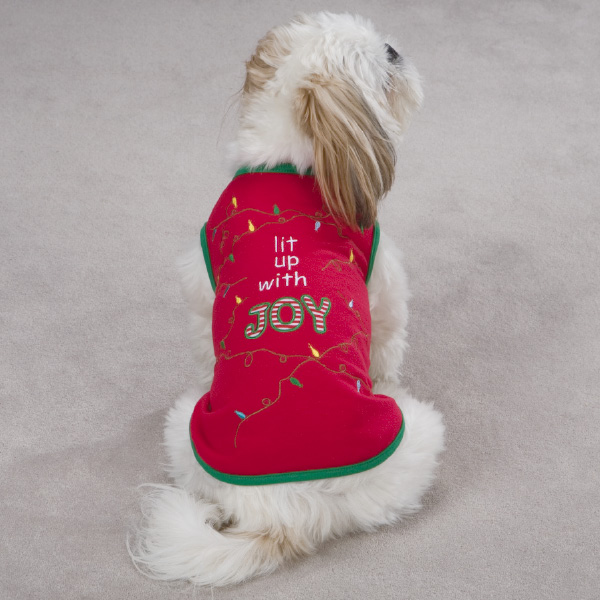 Lit Up with Joy Dog T-Shirt - Red