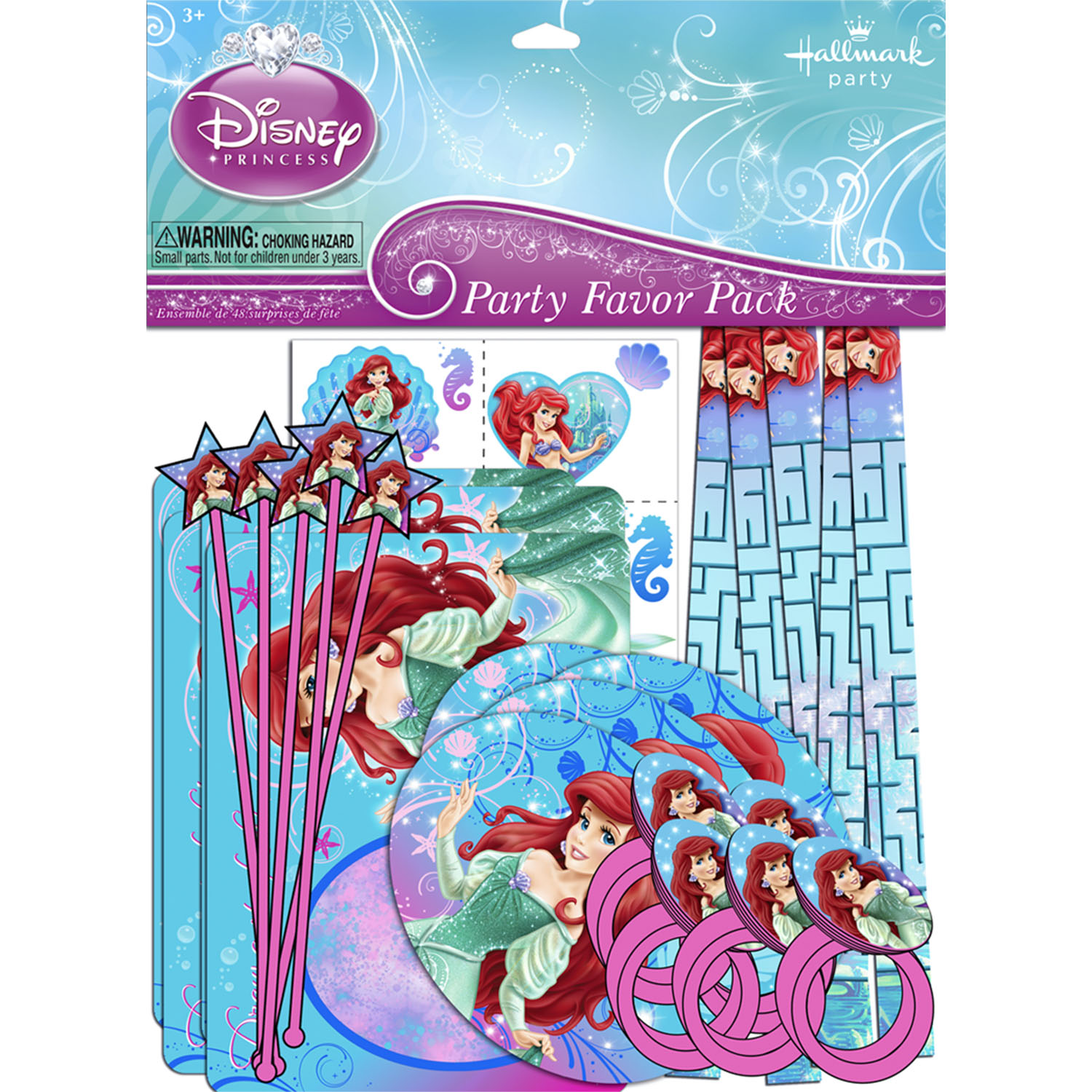 The Little Mermaid Party Supplies - Sparkle™ Party Favor Pack at ToyStop