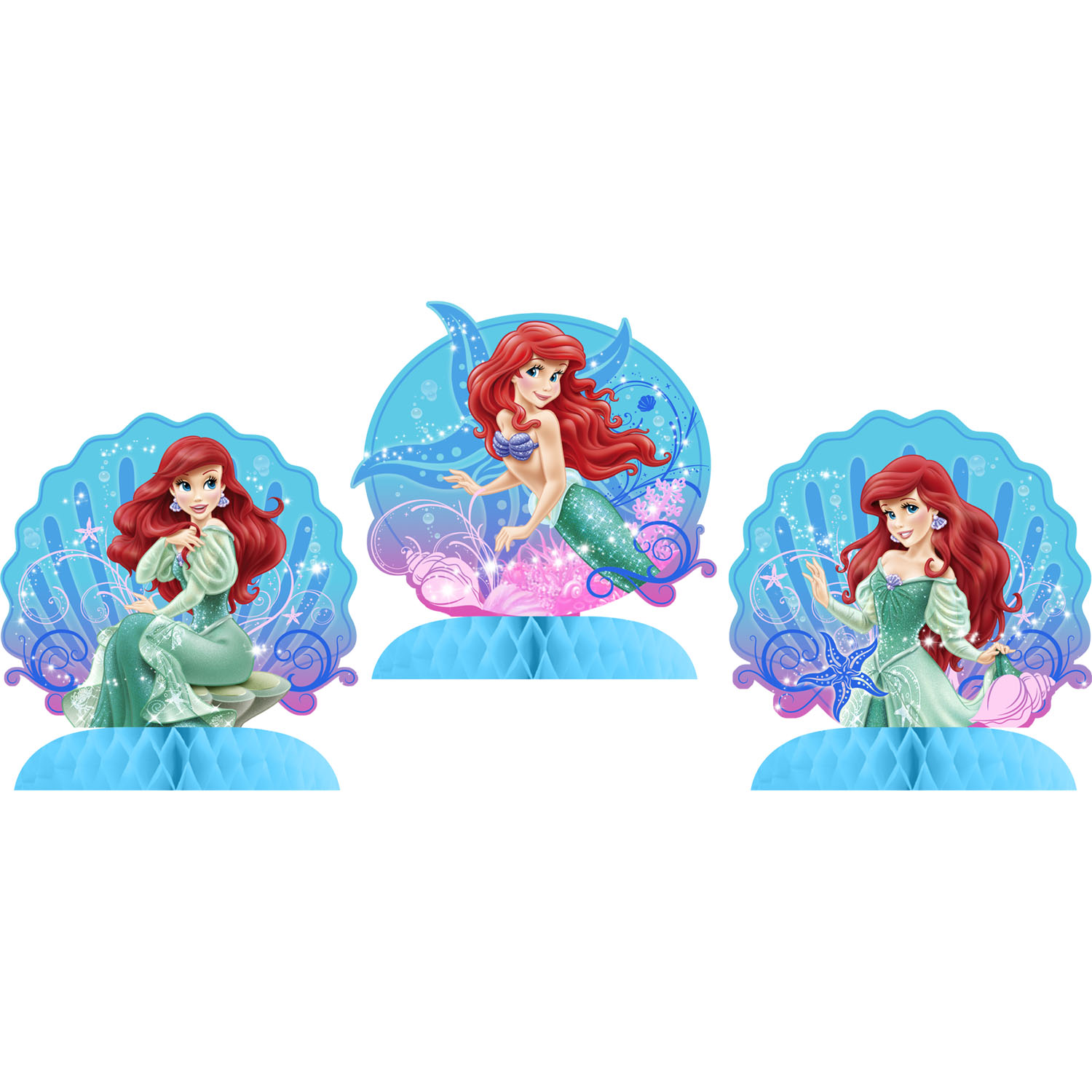 The Little Mermaid Party Supplies Sparkle Tabletop