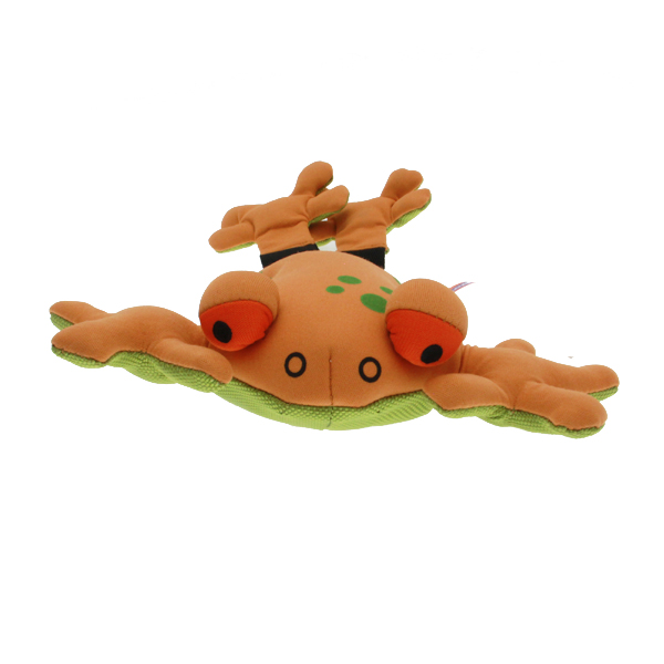 Longshots Ballistic Frog Dog Toy - Orange