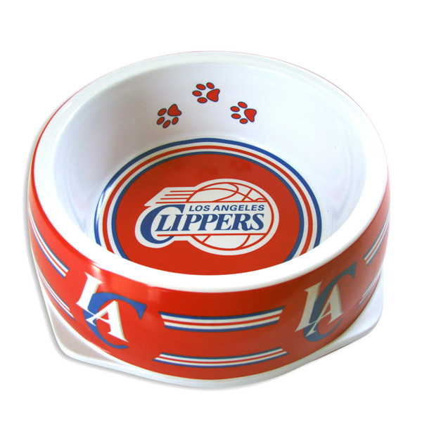Los Angeles Clippers Plastic Dog Bowl