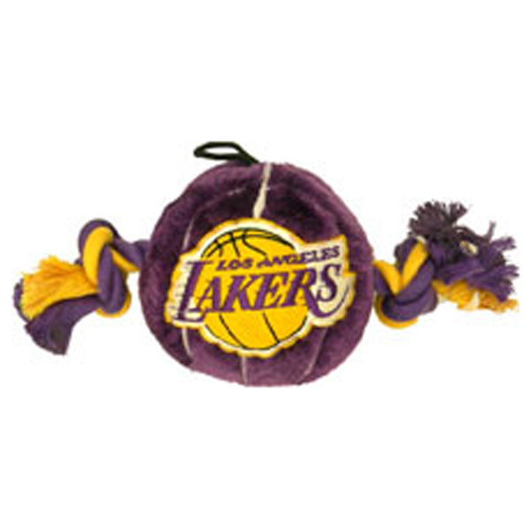 Los Angeles Lakers Basketball Dog Toy