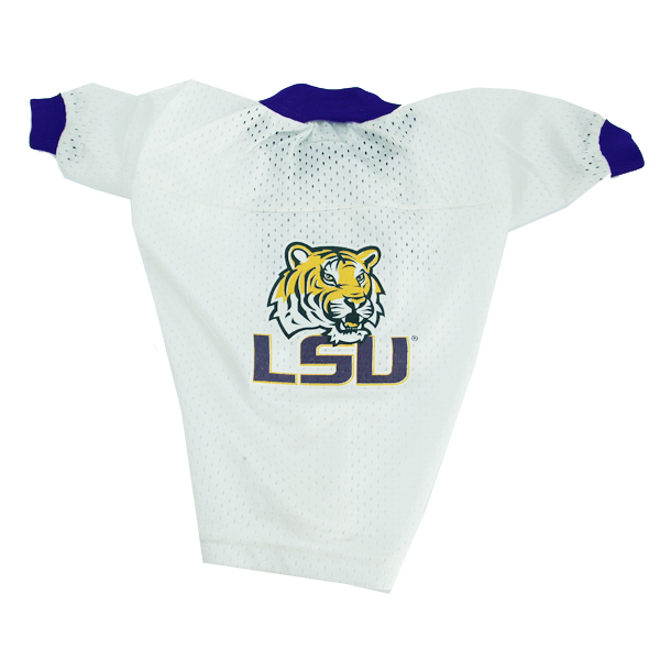 Louisiana State University Dog Jersey - White