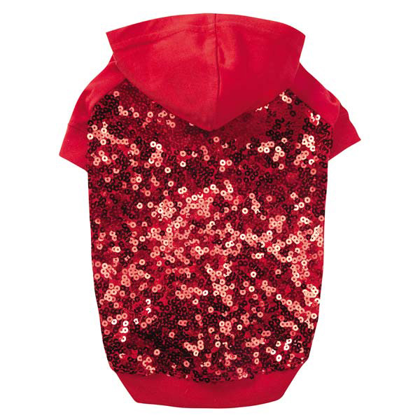 Love Me Sequin Dog Pullover by East Side Collection - Red