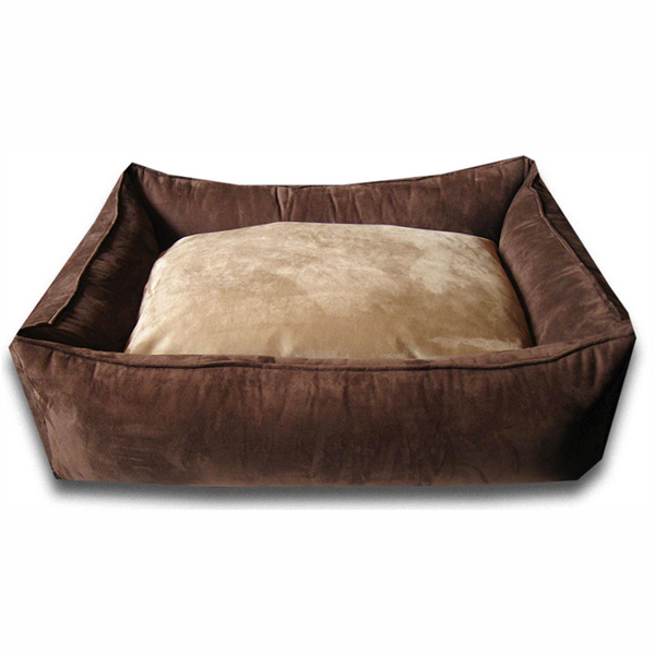 Luca Lounge Dog Bed - Chocolate/Earth