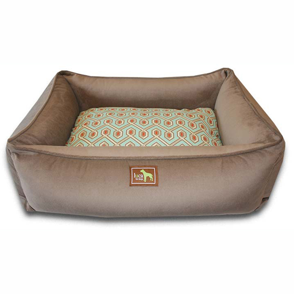 Luca Lounge Dog Bed - Coco/Diamond Back