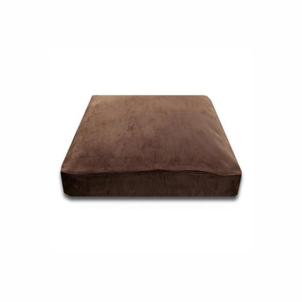 Luca Traditional Rectangle Dog Bed - Chocolate