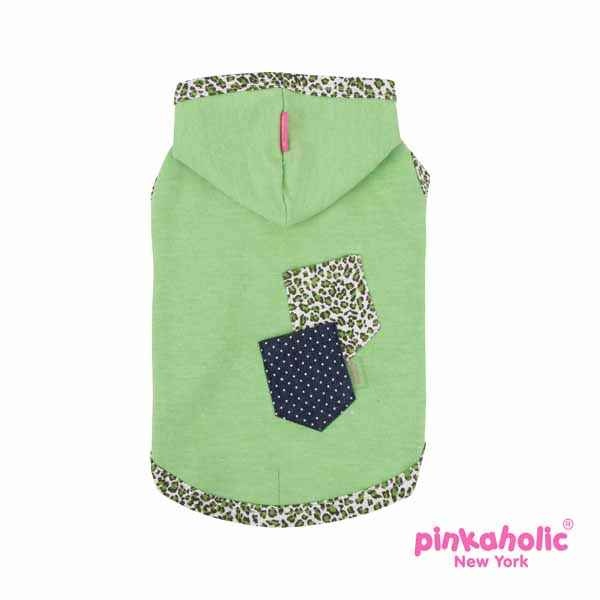 Lucid Hooded Dog T-Shirt by Pinkaholic - Green