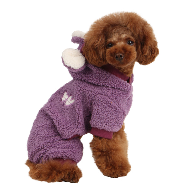 Lullaby Hooded Dog Jumpsuit by Pinkaholic - Purple