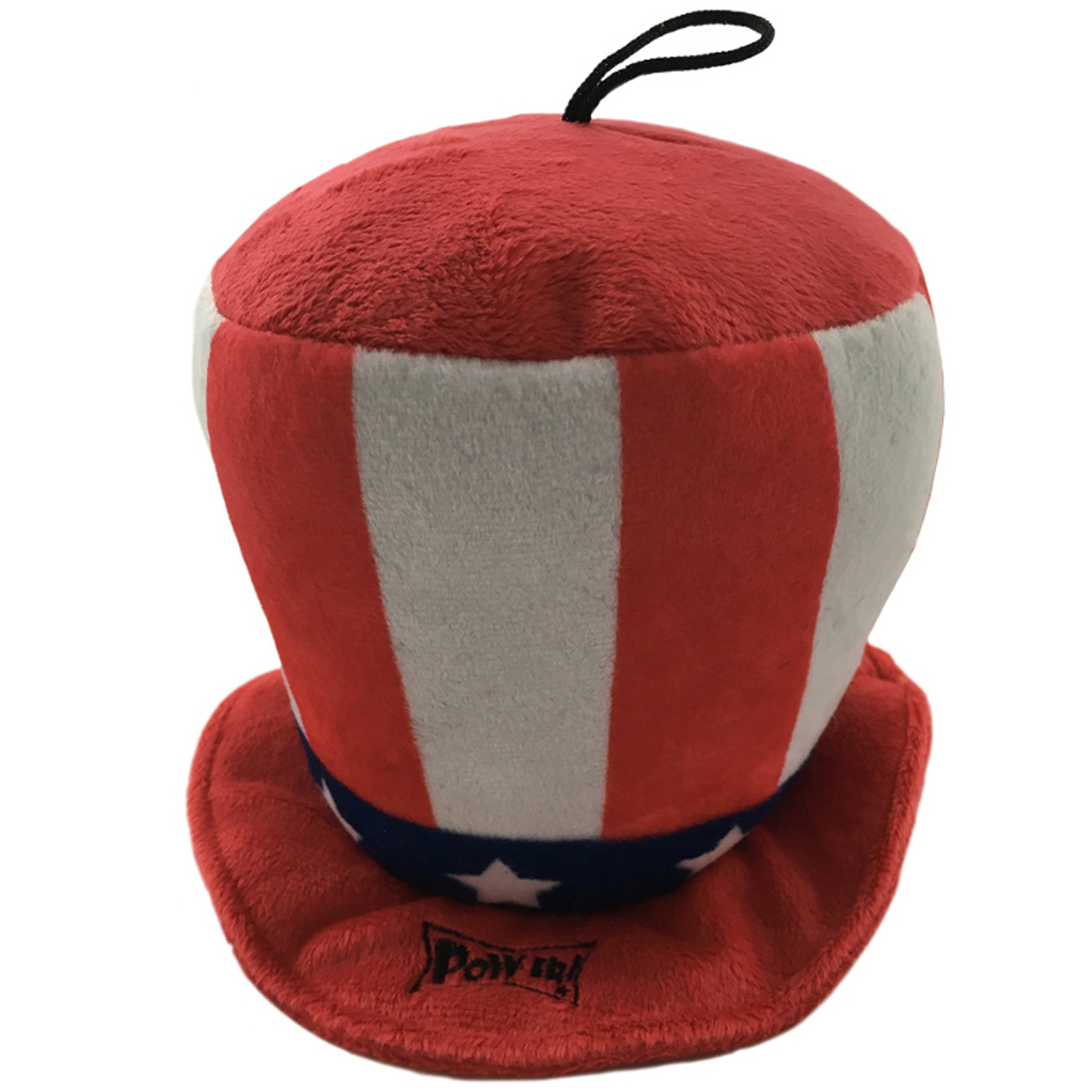 ... patriotic party with the Lulubelles Power Plush Patriot Hat Dog Toy