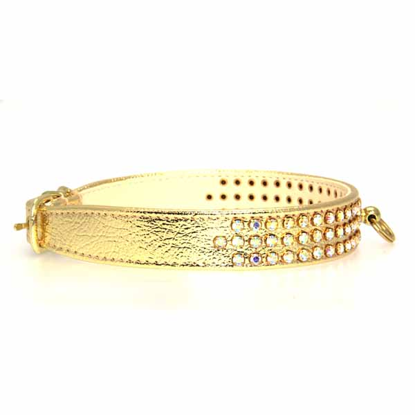 Manhattan Crystal Dog Collar - Gold