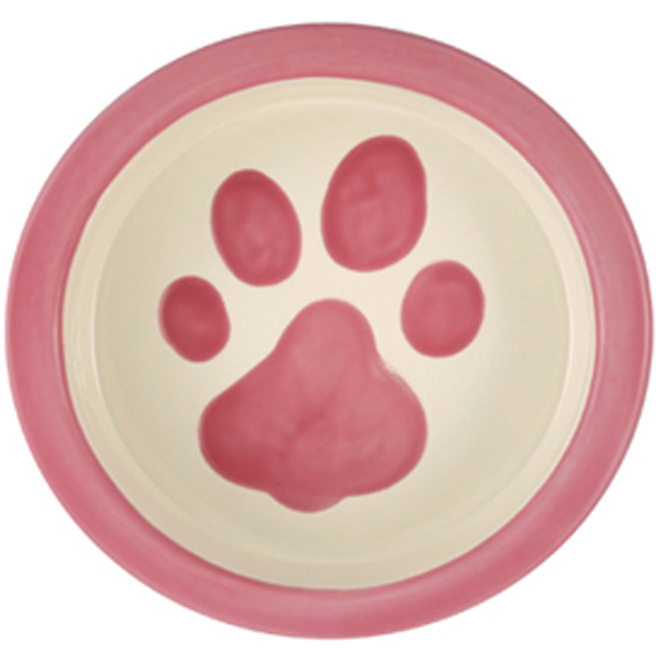 Melia Paw Ceramic Pet Bowl - Pink