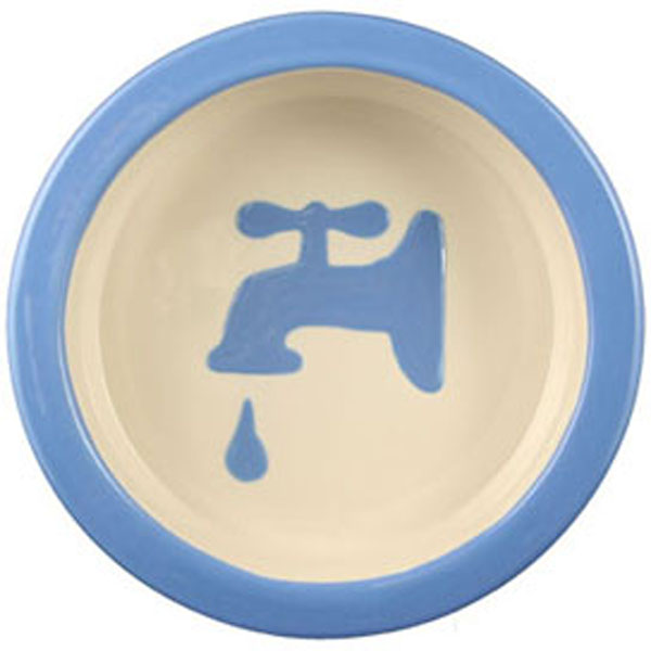 Melia Water Tap Ceramic Pet Bowl - Light Blue