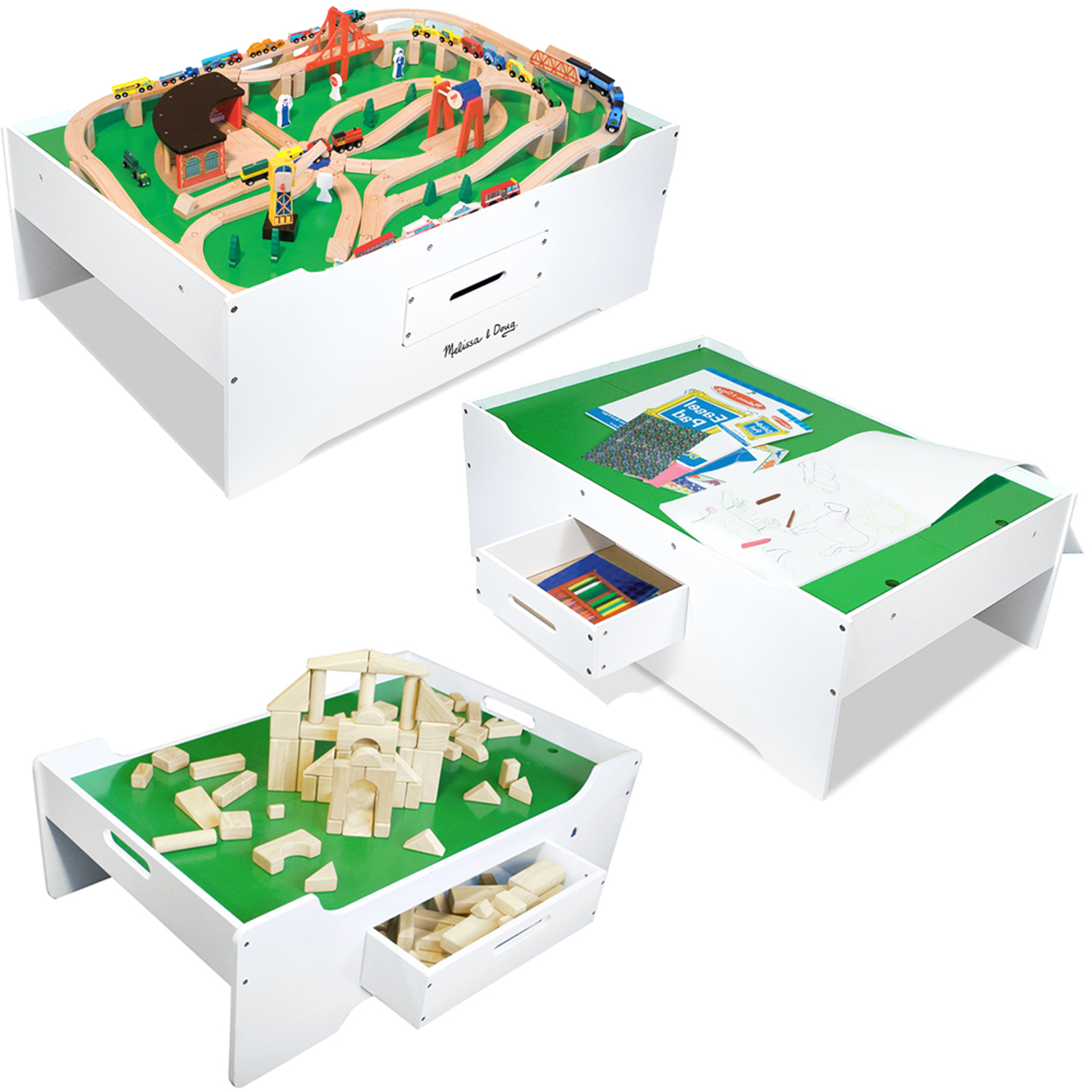 Melissa & Doug - Deluxe Wooden Multi-Activity Table at ToyStop