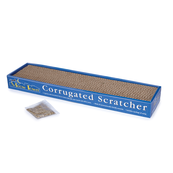 Meow Town Corrugated Scratcher