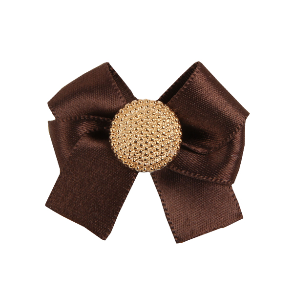 Mia Dog Bow by Pinkaholic - Brown