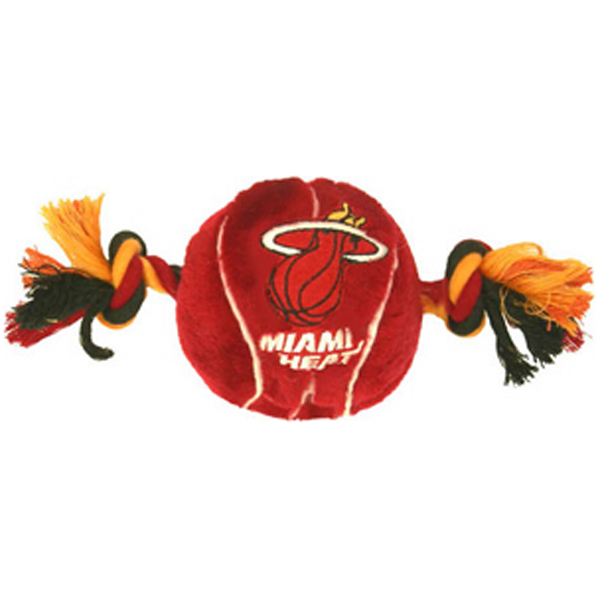 Miami Heat Basketball Dog Toy
