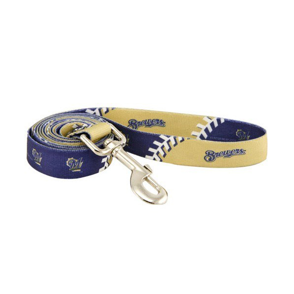 Milwaukee Brewers Baseball Printed Dog Leash