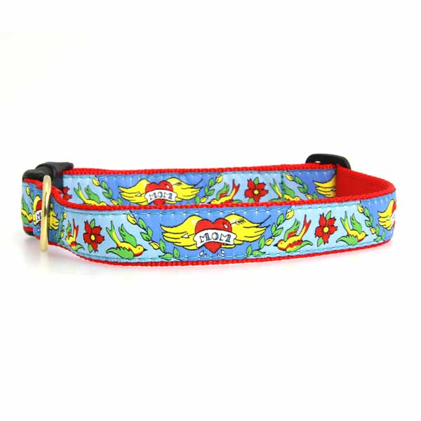 Mom Tattoo Dog Collar by Up Country