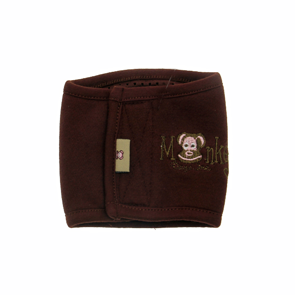 Monkey Daze Dog Belly Band - Brown