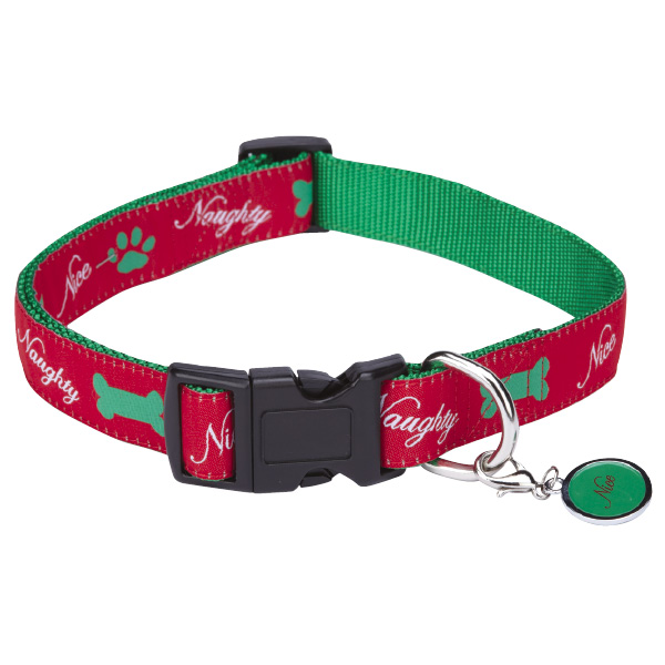 Naughty or Nice Dog Collar by Zack & Zoey