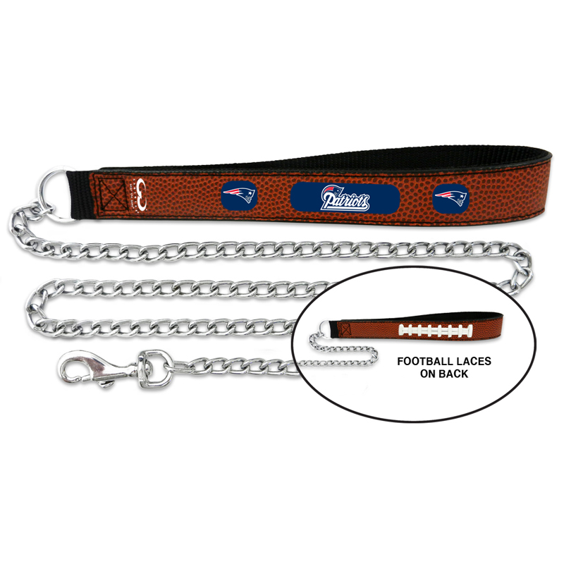New England Patriots Leather Dog Leash