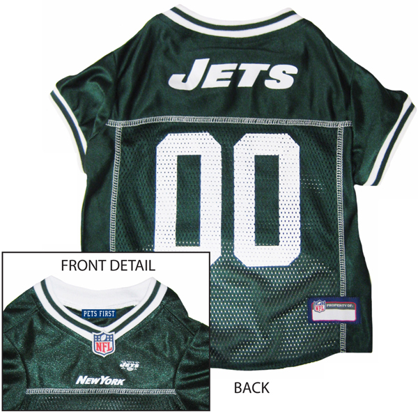 New York Jets Officially Licensed Dog Jersey - White Trim