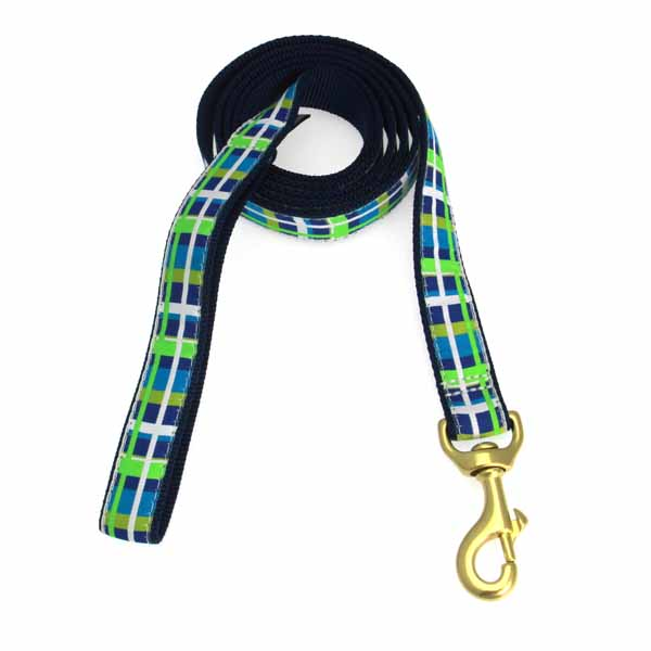 Newport Plaid Dog Leash by Up Country