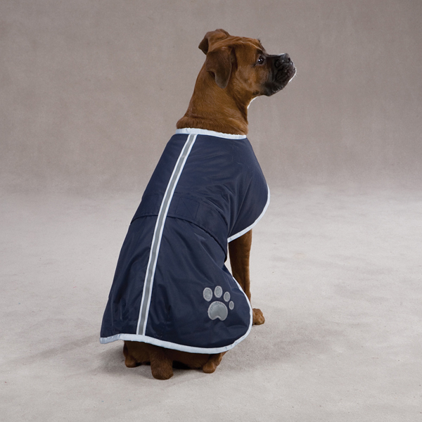 Nor'easter Dog Blanket Coat - Navy