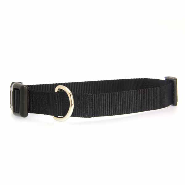 Nylon Dog Collar by Zack & Zoey - Jet Black
