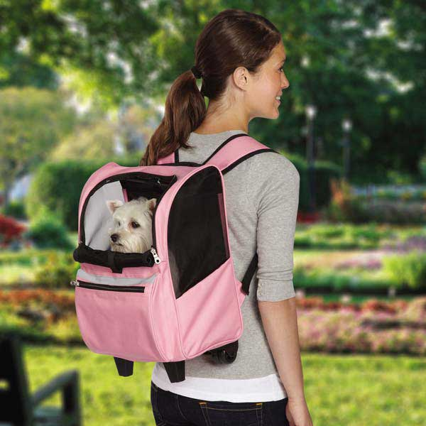 On-The-Go Rolling Backpack Pet Carrier - Pink
