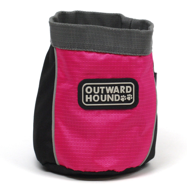 Outward Hound Treat 'N Ball Bag - Pink and Black