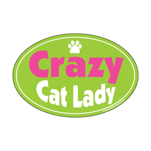 Crazy Cat Lady Oval Magnet