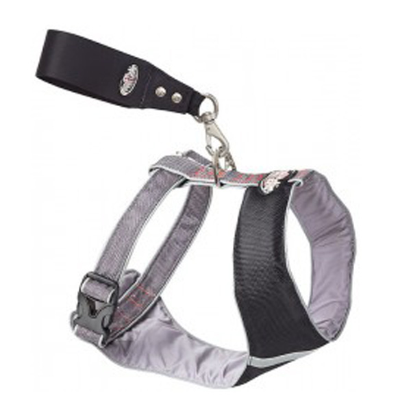 Over the Head Comfort Harness - Black / Gray