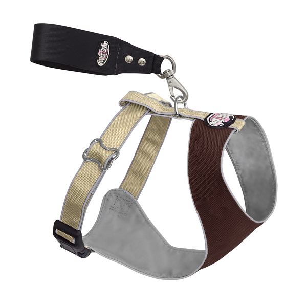 Over the Head Comfort Harness - Brown/Tan