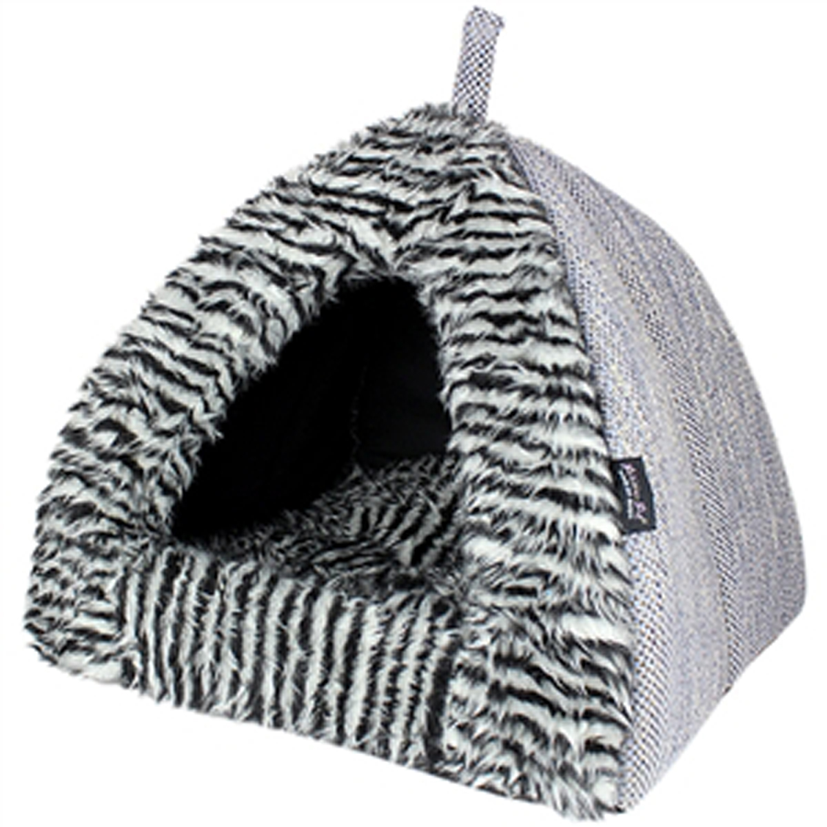... wild pup will love this fun Parisian Pet Cabana Dog House in Gray