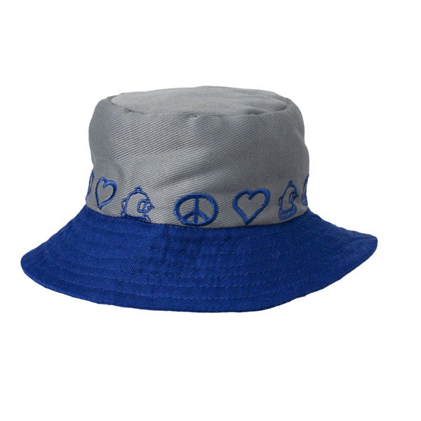 Peace Bucket Hat by Doggles - Gray/Blue