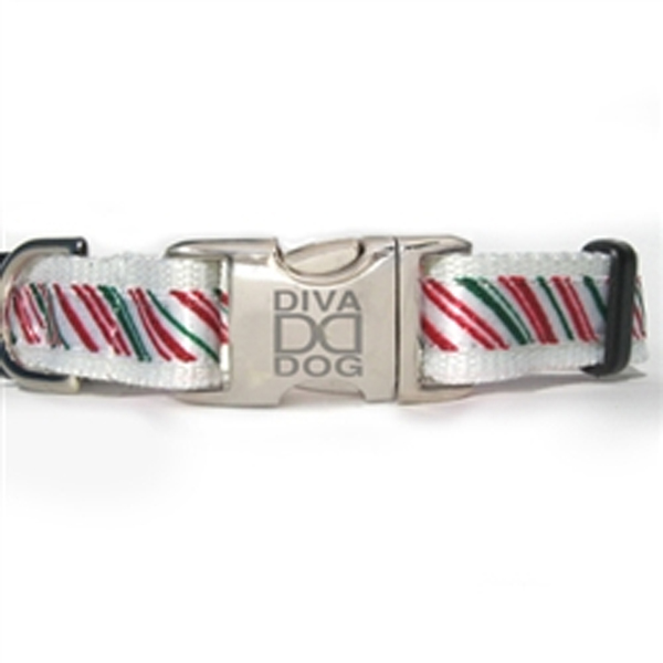 Peppermint Holiday Dog Collar by Diva Dog