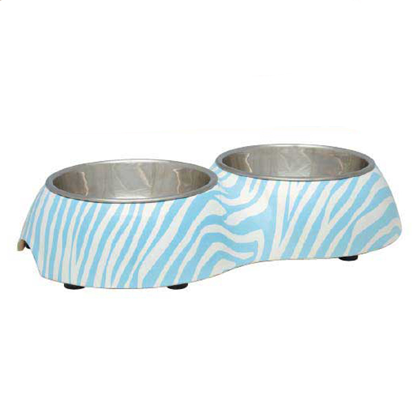Pet Studio Sweet Safari Melamine Pet Diner - Powder Blue