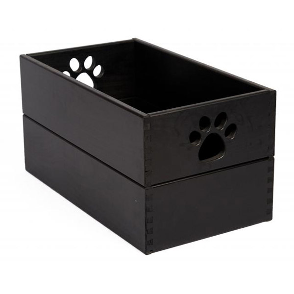Pet Toy Box - Classic Black