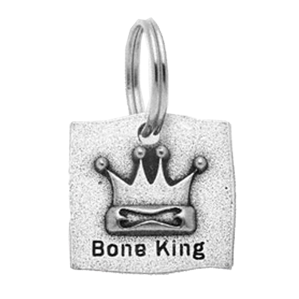 Pewter Dog Collar Charm - Bone King Charm